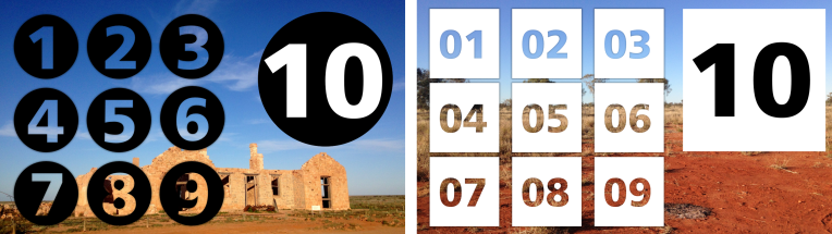 using number stencils in elearning design
