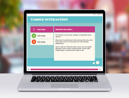 tabbed interaction storyline