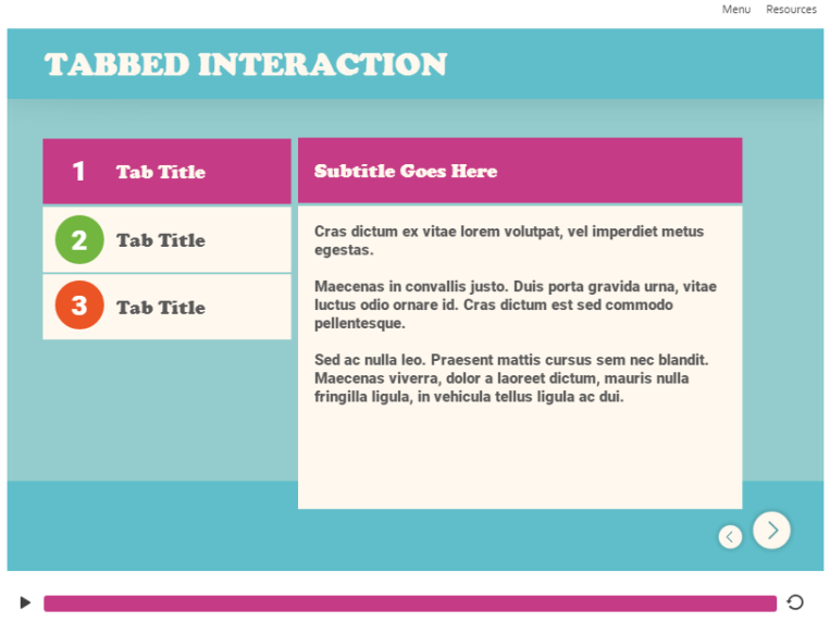 tabbed interaction