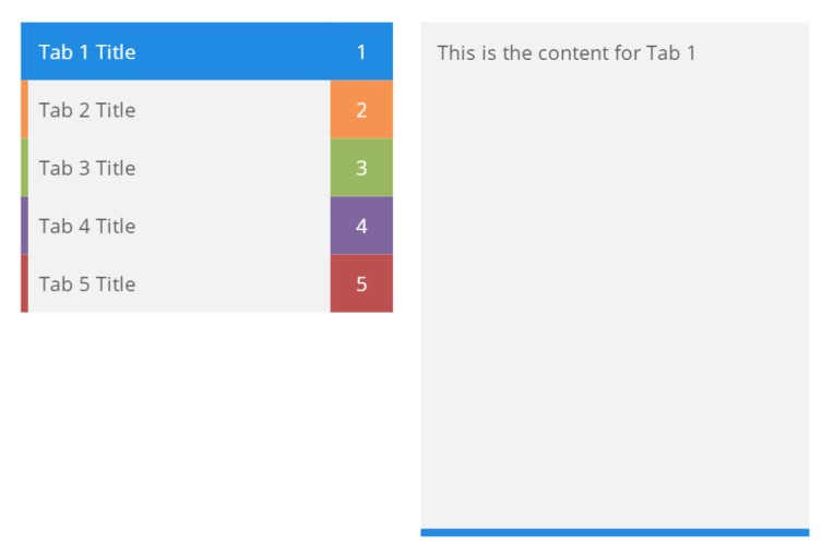 tabbed interaction animated design